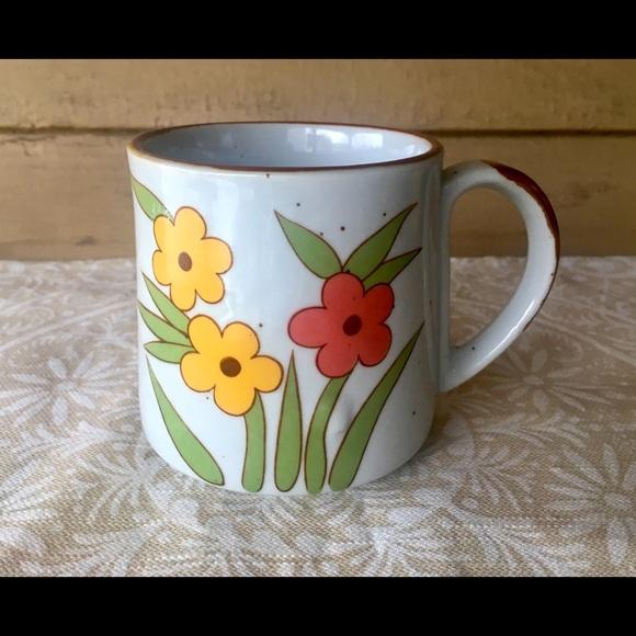 Vintage Floral Ceramic Mug